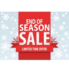 Sale poster end of season sale poster vector