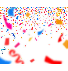 Abstract background with colorful paper confetti vector