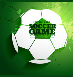 Abstract soccer game sports background design vector