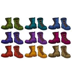 Boots set vector