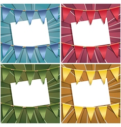Bunting card decorations vector