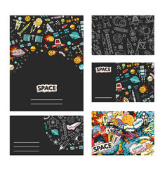 cards template of cosmos vector image