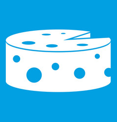 Cheese icon white vector