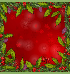 Christmas frame with holy vector