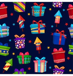 Colorful Gift Boxes Seamless Pattern vector image