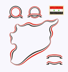 Colors of syria vector