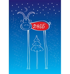 Comedy goat of New Year vector image vector image