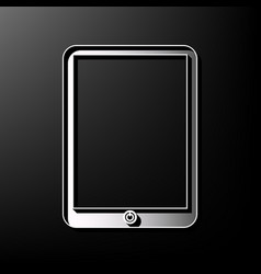Computer tablet sign gray 3d printed icon vector