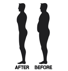diet beauty before and after vector image vector image
