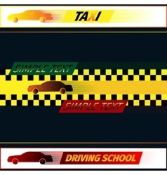 Driving school and taxi vector