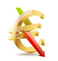 Euro falling vector