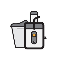 Flat color juicer icon vector