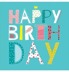 happy cool birthday vector image