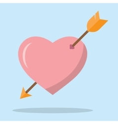 Heart with an arrow vector image vector image