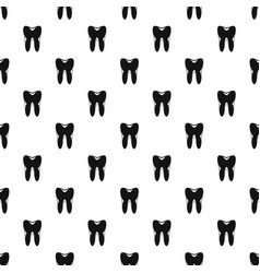 Human tooth pattern vector