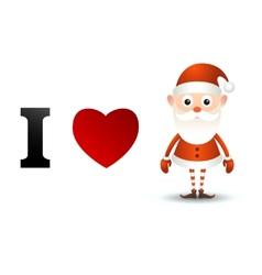 I love Santa Claus card vector image vector image