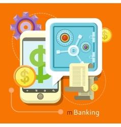 Internet online banking concept vector