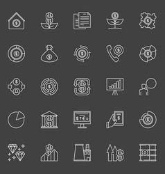 investment icons vector image vector image