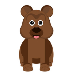 isolated cute bear vector image vector image