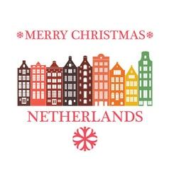 Merry Christmas Netherlands vector image