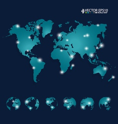 Modern world map design vector image vector image