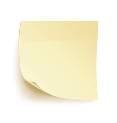 Paper work notes isolated blank sticky vector