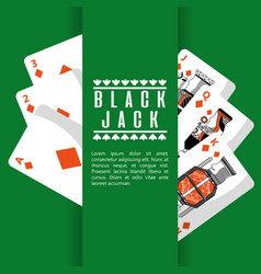 poker black jack cards casino deck gambling vector image