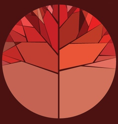 Red autumn tree vector