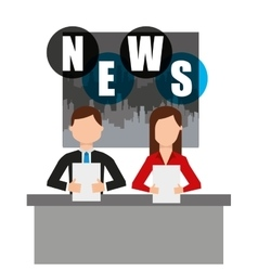 Reporter breaking news icon vector