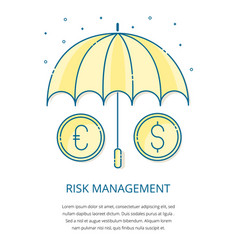 risk management logo vector image vector image