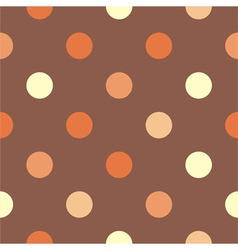 Seamless brown polka dots background vector image