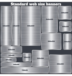 set of standard size web banners banners with vector image
