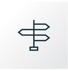 Signpost outline symbol premium quality isolated vector