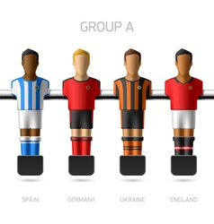 Table football foosball players Group A vector image vector image
