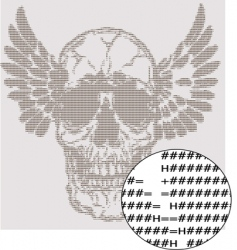 text skull design vector image vector image
