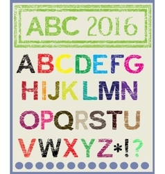 The multi-colored alphabet which will lighten mood vector