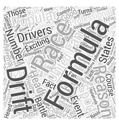 The popularity of formula d racing word cloud vector