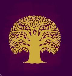 Tree symbol Asia style vector image