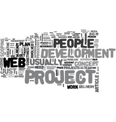 Web project tips text word cloud concept vector