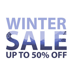 winter sale words on the beautiful chrismas flat vector image vector image