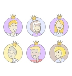 Collection of office stars best worker vector