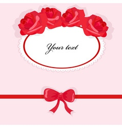 background with roses 2 vector image