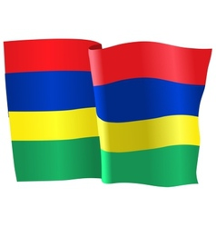 Flag of mauritius vector