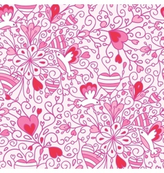 Love flowers seamless pattern background vector