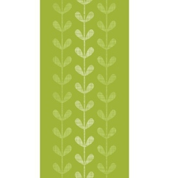 Abstract textile green vines leaves vertical vector