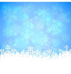 Snowflakes and bokeh vector