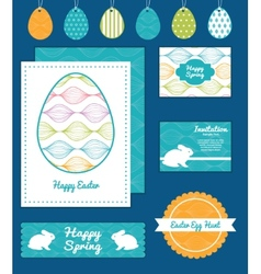 Colorful horizontal ogee set of easter vector