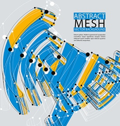 Abstract 3d mesh background clear eps 8 vector