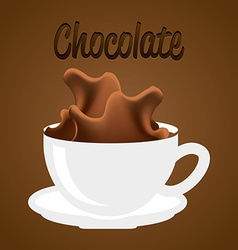 Delicious chocolate vector