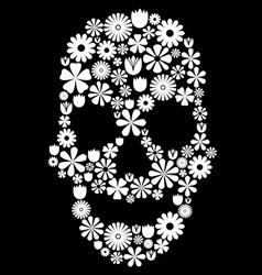 Flower skull vector image